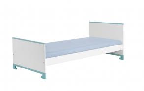 sänky, 200x90, valkoinen+turkoosi