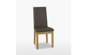 nahkapehmusteinen tuoli Enna