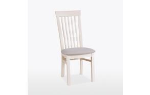 maalattu tuoli Swell, nahkapäällysteinen
