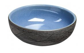 keraaminen pesuallas Interia Priori PI020, pöytätasolle, koristemaalattu, sininen/harmaa, 420 X 420 X 150 mm