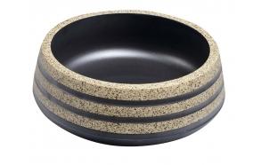 keraaminen pesuallas Interia Priori PI021, pöytätasolle, koristemaalattu, ruskea/kivi-imitaatio, 420 X 420 X 150 mm