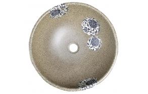 keraaminen pesuallas Interia Priori PI018, pöytätasolle, koristemaalattu, kivi-imitaatio, 420 X 420 X 150 mm
