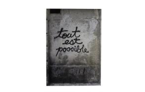 seinäkoriste Tout Est Possible, betoni