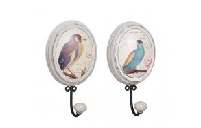 23 cm MDF-koukku linnun kuvan kera, 2 eri tyyliä