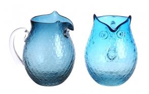 20 cm pöllön mallinen juomakannu, 2 eri tyyliä