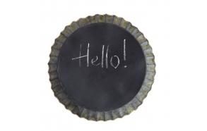 35 cm pyöreä metallikehyksinen taulu