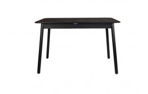 ruokapöytä Glimps Black, 120/162x80 cm