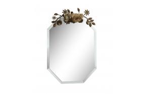 30x40 cm peili, metallisin kukkakoristein