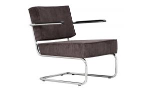 käsinojallinen nojatuoli Ridge Rib, harmaa