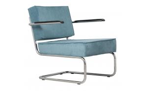 käsinojallinen nojatuoli Ridge Rib, sininen