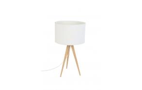 pöytälamppu Tripod Wood, valkoinen
