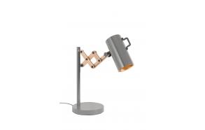 pöytälamppu Flex, harmaa