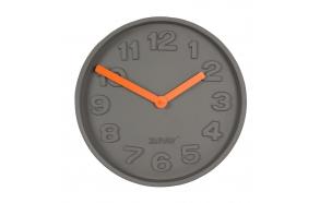 seinäkello Concrete Time, oranssi