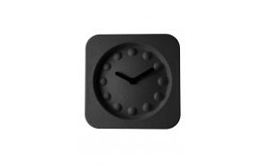 seinäkello Pulp Time, kulmikas, musta