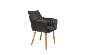 käsinojallinen tuoli Pike, musta