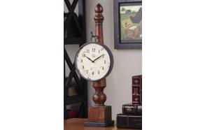 60 cm metallinen kello alustalla