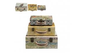 puinen matkalaukku/säilytysrasia, eri kokoja