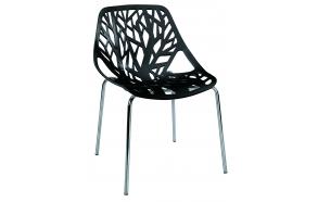 pinottava tuoli Flora, musta
