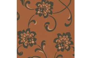 Decadence Jacobean Floral Copper/Chocolate