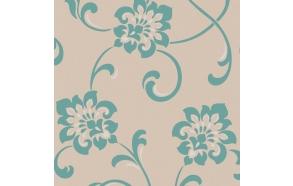 Decadence Jacobean Floral White/Blue