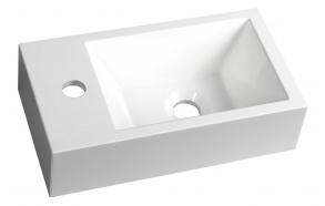 pesuallas Interia Amarok, vasenkätinen, komposiittikivi, 400 X 220 x 110 mm