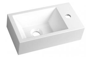 pesuallas Interia Amarok, oikeakätinen, komposiittikivi, 400 X 220 x 110 mm