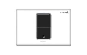 kosketusvapa huutelupainike Creavit Photocell, valkoinen, sähköasennus