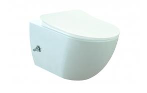 bidet-hanalla wc-istuin Creavit Free No Rim, seinämalli, valkoinen