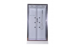 hierova suihkukaappi Interia RSC-1109W, 110 x 90 x 220 cm, kirkas lasi, katto