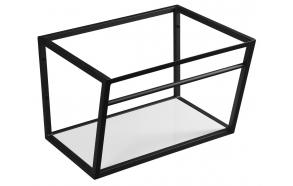 metallinen pesuallasrakenne Ska, 60 cm, mattamusta, valkoinen MDF-hylly