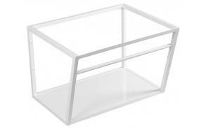 metallinen pesuallasrakenne Ska, 60 cm, mattavalkoinen, valkoinen MDF-hylly