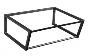 metallinen pesuallasrakenne Ska, 60 cm, mattamusta