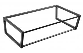 metallinen pesuallasrakenne Ska, 75 cm, mattamusta