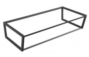 metallinen pesuallasrakenne Ska, 90 cm, mattamusta