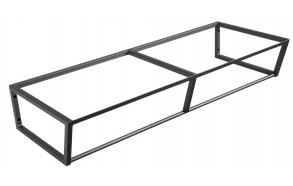 metallinen pesuallasrakenne Ska, 120 cm, mattamusta
