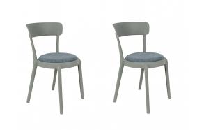 setti: 2 tuolia Hoppe Comfy, vaaleanharmaa