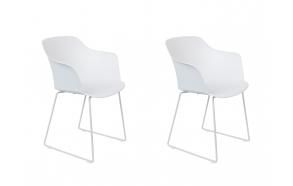 setti: 2 käsituin varustettua tuolia Tango, valkoinen