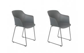 setti: 2 käsituin varustettua tuolia Tango, harmaa