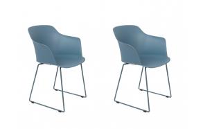 setti: 2 käsituin varustettua tuolia Tango, sininen