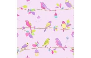 Hoopla Pretty Birds SidewallLilac