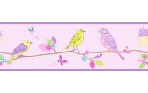 Hoopla Pretty Birds Border Lilac