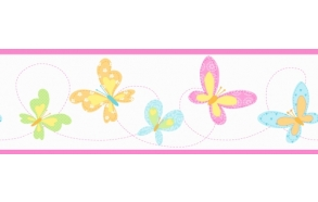 Hoopla Butterfly Border Pink
