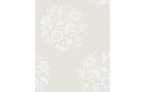 Floral Motif , White