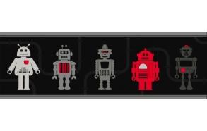 Hoopla Robots Border Grey