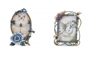 metallinen valokuvakehys puutarha-aiheella, 2 tyyliä, 13 cm L x 17 cm H 12,5 cm L x 20,5 cm H
