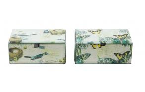 lintuaiheinen lasirasia, 2 tyyliä, 13,5 cm L x 8,5 cm W x 6 cm H