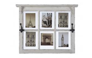 puinen valokuvakehys 2 koukulla, 61 cm L x 48 cm H