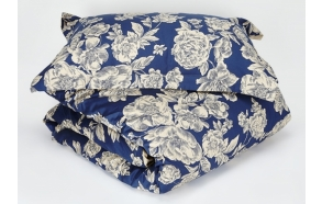 tyynyliina Peonia Blue, 50x70+5 cm, 100% satiini