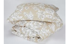 tyynyliina Peonia Beige, 50x70+5 cm, 100% satiini