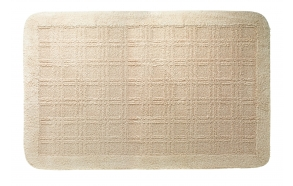 Kylpyhuonematto QUADRANT, beige, 60x100 cm